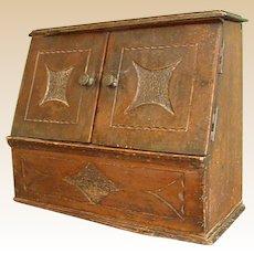 Sweet Antique Handmade Wooden Document Box/Rack