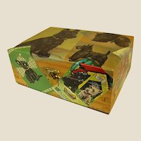Artist Made Custom Decorated Wooden Box Scottish Terriers