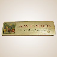Vintage A. W. Faber Castell Metal Pencil Box
