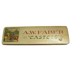Vintage A. W. Faber Castell Metal Pencil Box