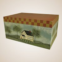 Country Hand Painted Wooden Box