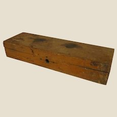 Small Rustic Wooden Instrument Box