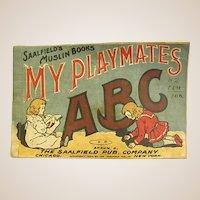 1906 Saalfield Muslin Book My Playmates ABC Book