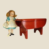 Brightly Painted Child's Old Wooden Stool