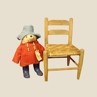 Darling Old Wooden Child's Chair with Split Reed Seat
