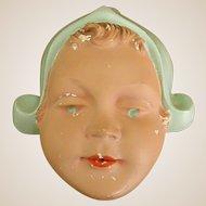 Sweet 1920s Chalkware Dutch Girl String Holder