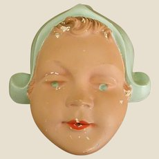 Sweet 1920s Chalkware Dutch Girl String Holder