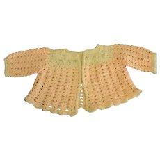 Precious Vintage Hand Knit Baby Jacket
