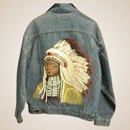 Classic Levi's Hand Painted Native American Southwestern Denim Jacket