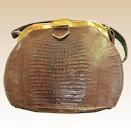 Wonderful Lizard Handbag from 1950-60s