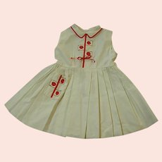Precious 1950s Custom Made Lylian Little Girl's Dress