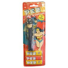 1985 Super Hero Batman Pez Dispenser with Candy