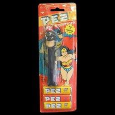 1985 Super Hero Batman Pez Dispenser with Candy