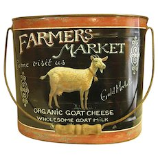 Country Inspired Decorative Metal Pail