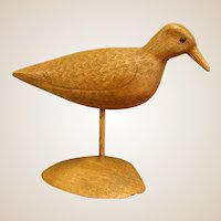 Vintage Carved Shore Bird on Stand