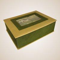 Charming Velveteen Box with Farm Scene