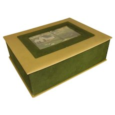 Charming Velveteen Box with Farm Scene