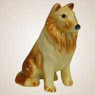 Endearing Vintage Porcelain Collie Dog