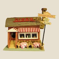 Darling Wooden Birdhouse/Dollhouse Diner