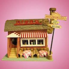Darling Wooden Birdhouse/Dollhouse Diner