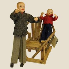 1950s Ideal Dollhouse Dad and Toddler