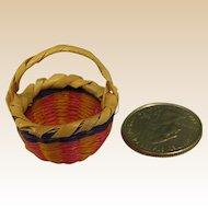 Wonderful Miniature Doll House Straw Woven Basket