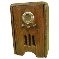 Primitive Wooden Dollhouse 1930s Style Radio