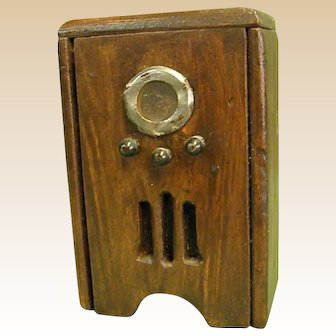 Primitive Wooden Dollhouse 1930s Style Radio