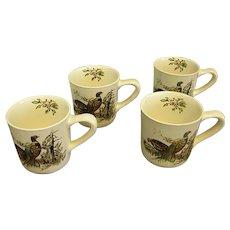 Johnson Brothers Game Birds Pheasant Mugs Set of 4