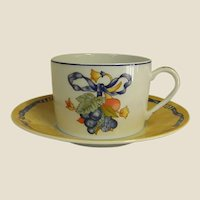 Highly Collectible Bernardaud Borghese Cups and Saucers