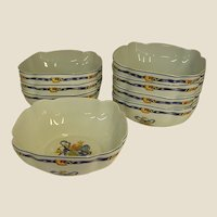 Highly Collectible Bernardaud Borghese Individual Lobed Bowls