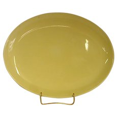 """Russel Wright Yellow Casual China 12 5/8"""" Platter by Iroquois China Co."""