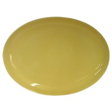 """Russel Wright Yellow Casual China 14 3/8"""" Platter by Iroquois China Co."""