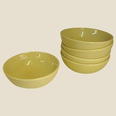 Russel Wright Yellow Casual China Coupe Cereal Bowl by Iroquois China Co.