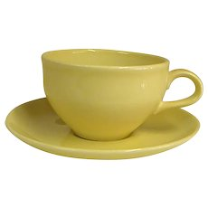 Russel Wright Yellow Casual China Cup and Saucer by Iroquois China Co.