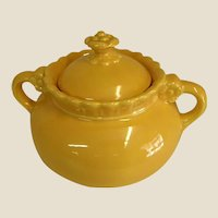 ON HOLD FOR SR - Rare Colorful 1930s Vistosa Sugar Bowl by Taylor, Smith, and Taylor