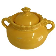 Rare Colorful 1930s Vistosa Sugar Bowl by Taylor, Smith, and Taylor