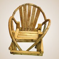 Rustic Little Doll Adirondack Chair