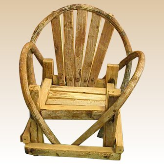 Rustic Little Doll Adirondack Chair