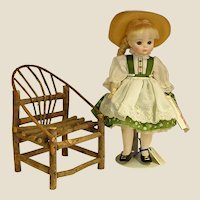 Sweet Handmade Doll Twig Adirondack Chair