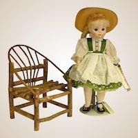 Sweet Handmade Doll Twig Adirondack Chair