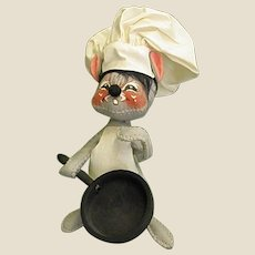 Delightful 1965 Annalee Mobilitee Mouse Chef Doll