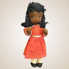 Darling Vintage Jointed Cloth Black Americana Doll