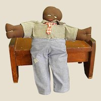 Charming Handmade Black Americana Cloth Doll
