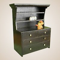 Wooden Doll Cabinet with Accessories