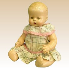 """Darling 1931 Horsman 13"""" Buttercup Composition and Cloth Doll"""