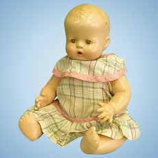 "Darling 1931 Horsman 13"" Buttercup Composition and Cloth Doll"