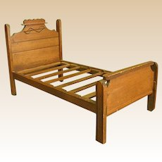 Adorable Homemade Eastlake Style Doll Bed