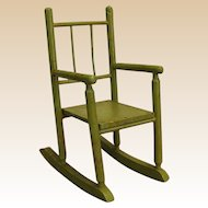Charming Old Wooden Doll Rocking Chair