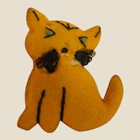 Adorable Tiny Stuffed Kitty Cat for Doll or Dollhouse